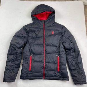 SPYDER NEXUS Men's Puffer Jacket Insulated Size Small Hooded Ski Coat